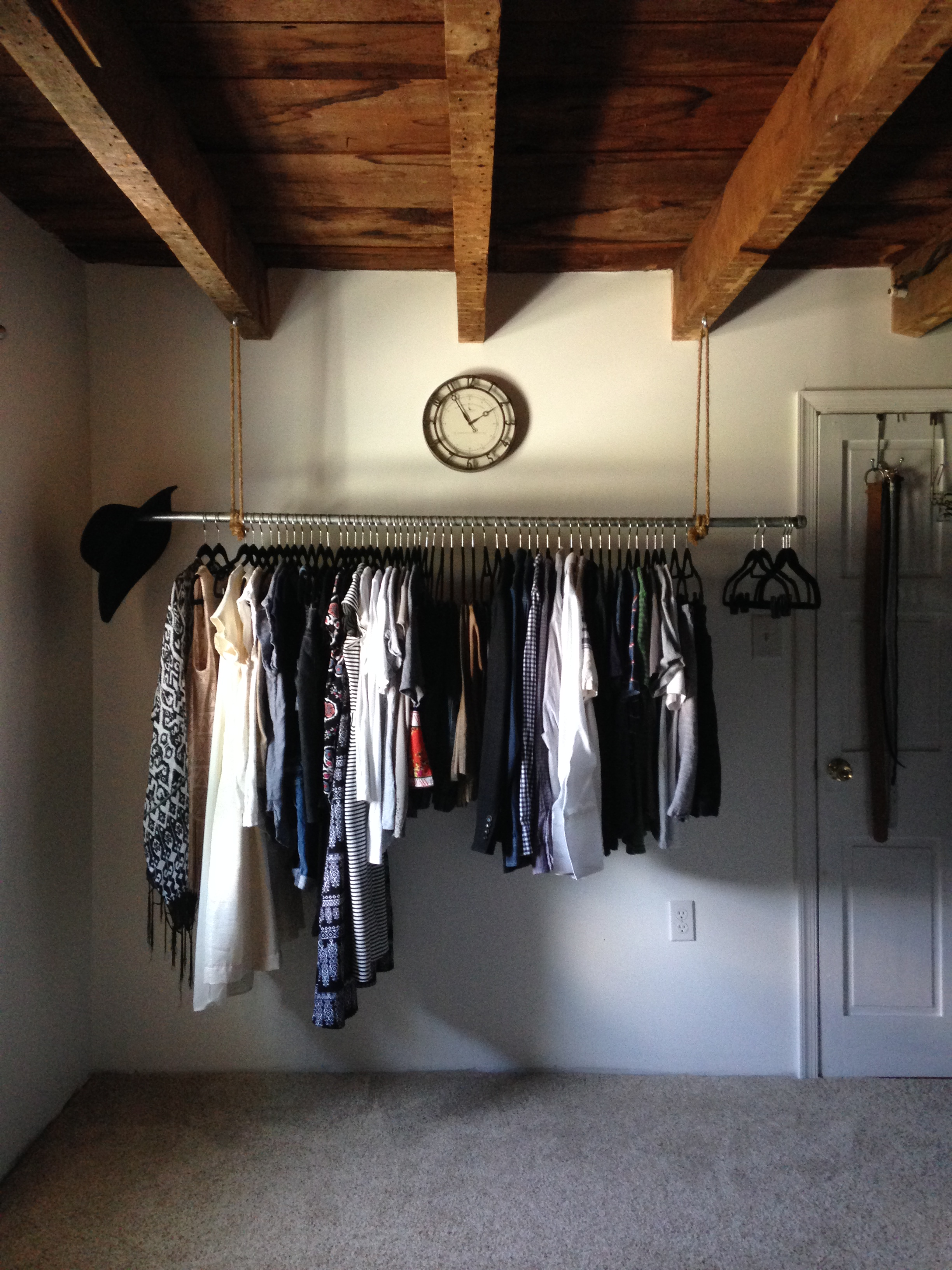 clothes system white instahanger walmart hanging com ip rack