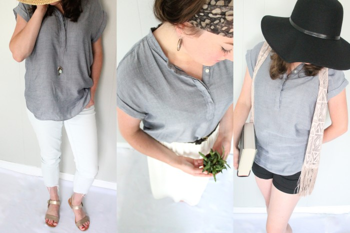 Chambray Top Collage